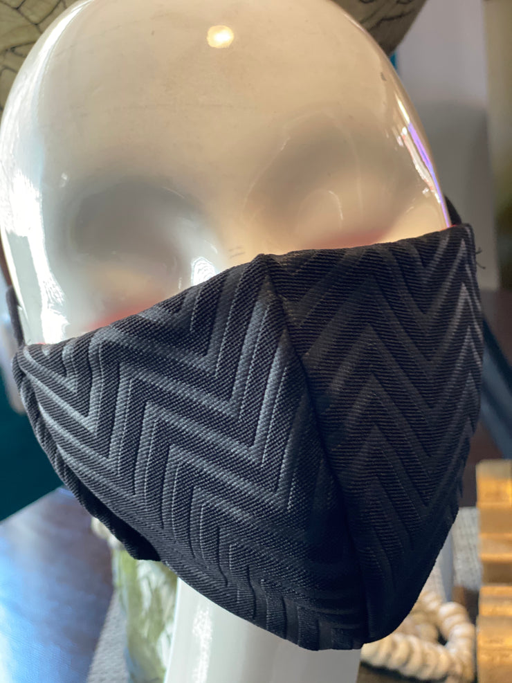 Joy Black Chevron Mask