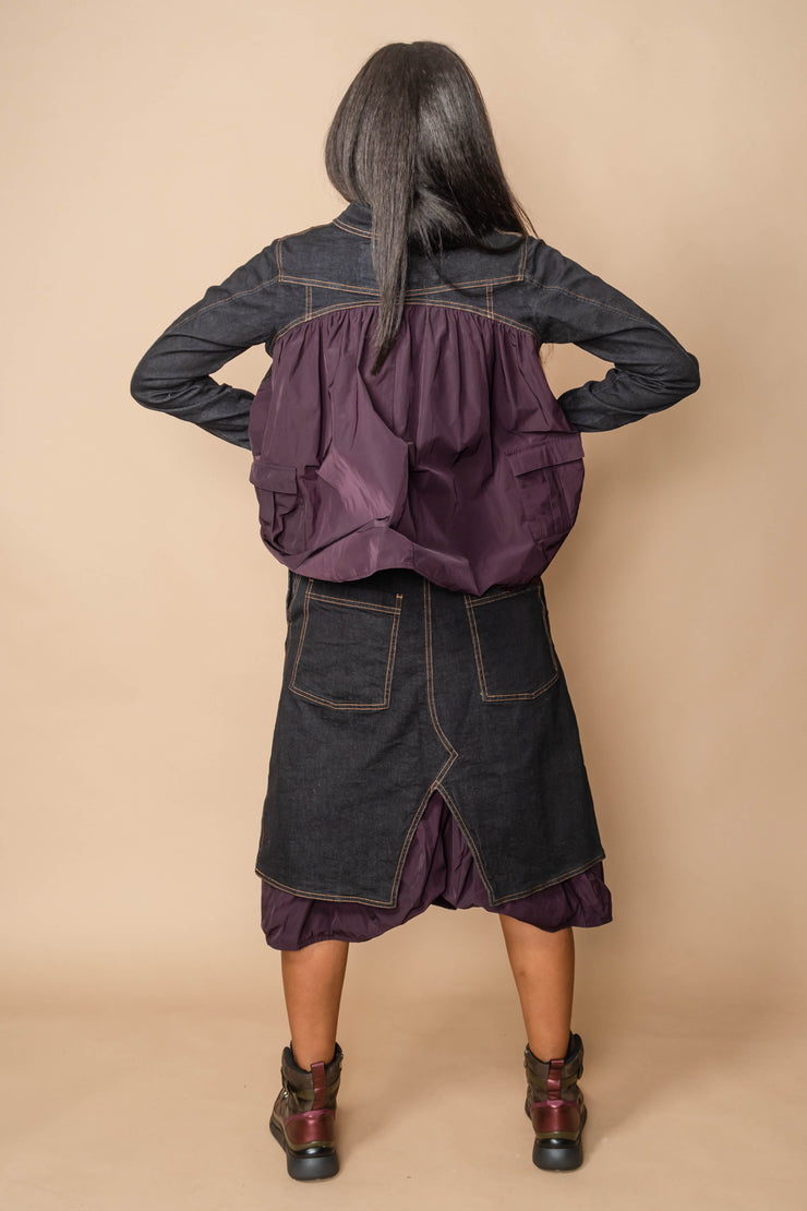 Rundholz Denim Tiered Skirt