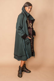 Rundholz Black Label Teal Shearling Coat3471203