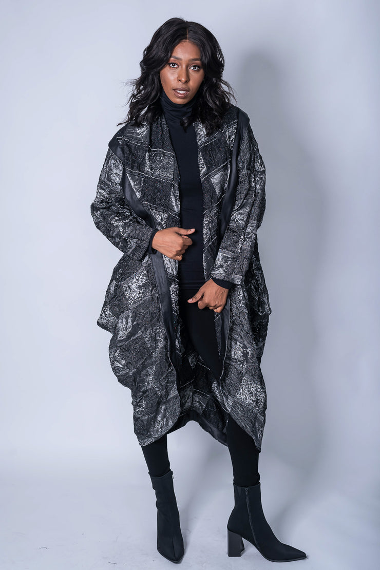 Kozan Annette Plaid Coat