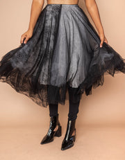 Luxe & Leather LL16-46 Tulle & Lace Skirt