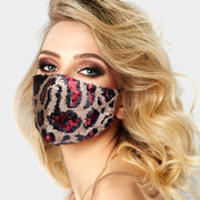 Glam Leopard Sequin Mask