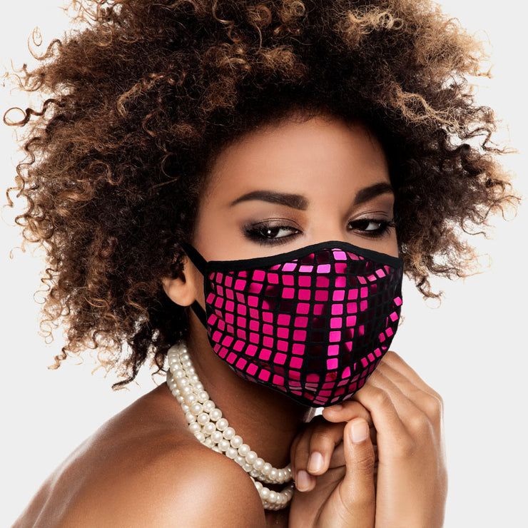 Glam Square Sequin Mask