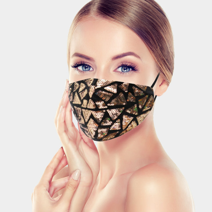 Geo Sequin Mask