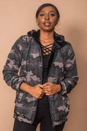 Nikki Jones K4956 Camo Coat