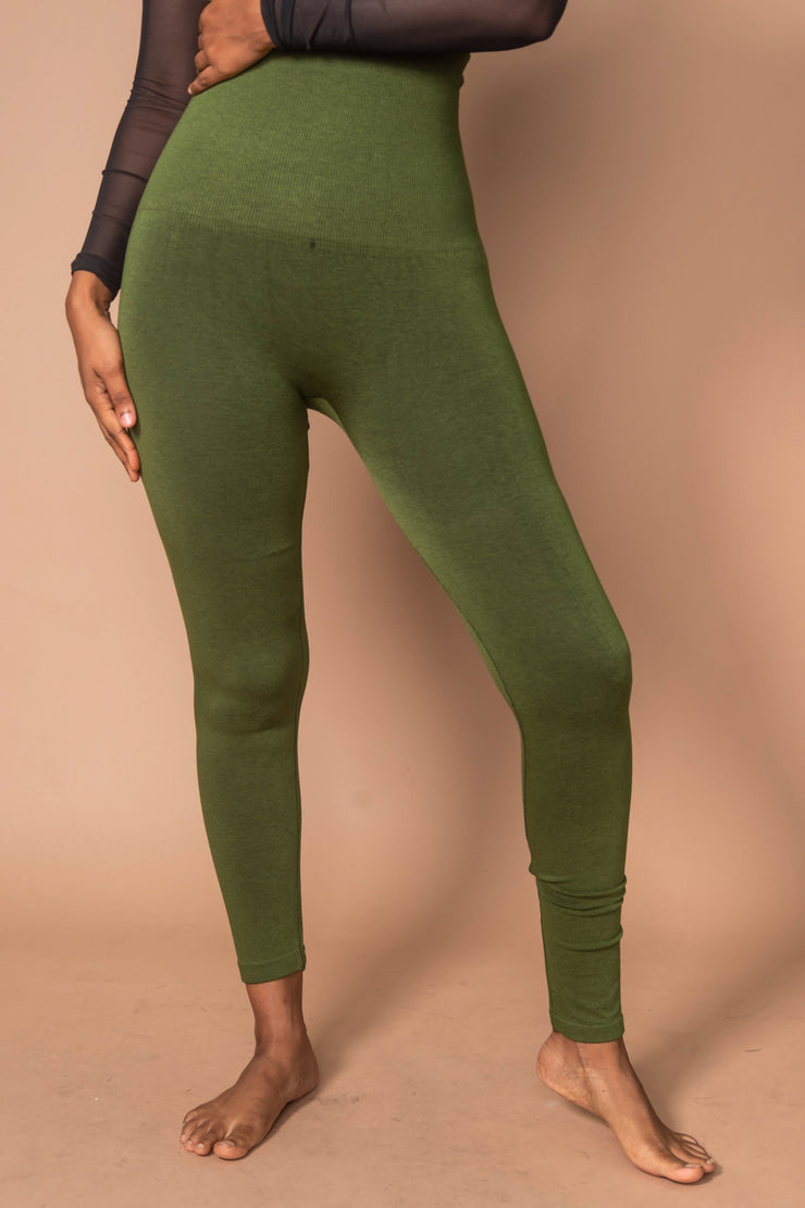 High Waist Cotton Legging | Plus