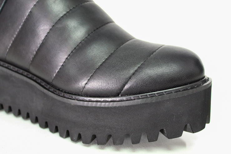 All Black Quilted Flatform