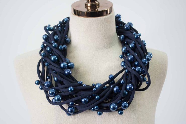 Jianhui London 10-Strand Cord & Pearl Necklace
