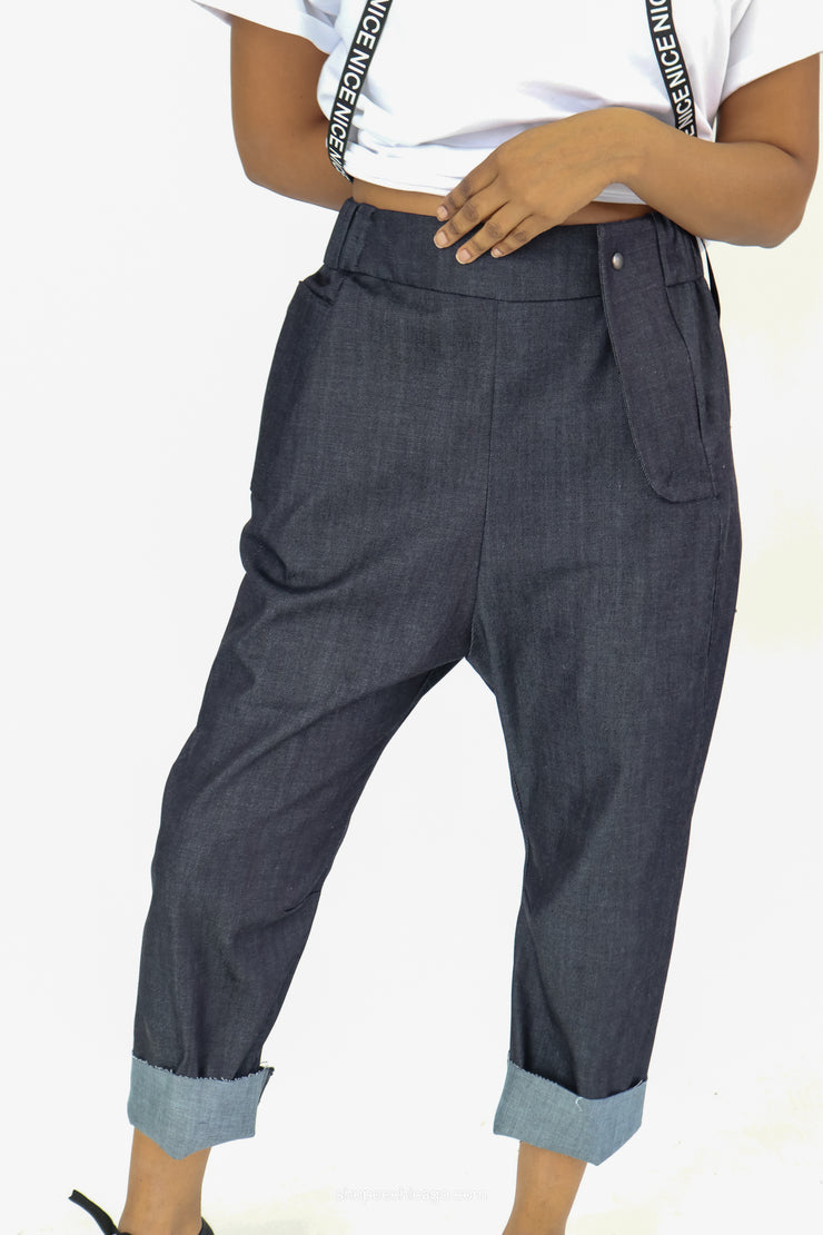 Just Sofia Denim Harem Pant - Essential Elements Chicago
