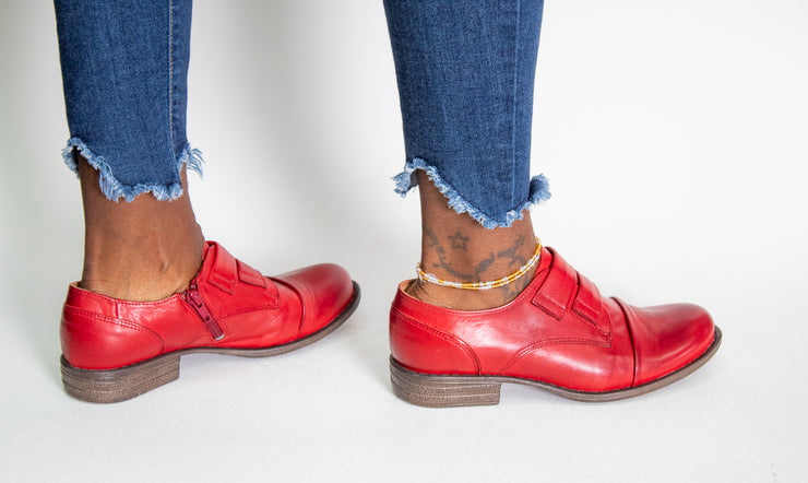 Miz Mooz Liam Red Oxford