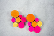 Monies Multi-sphere Pink/Orange Earring