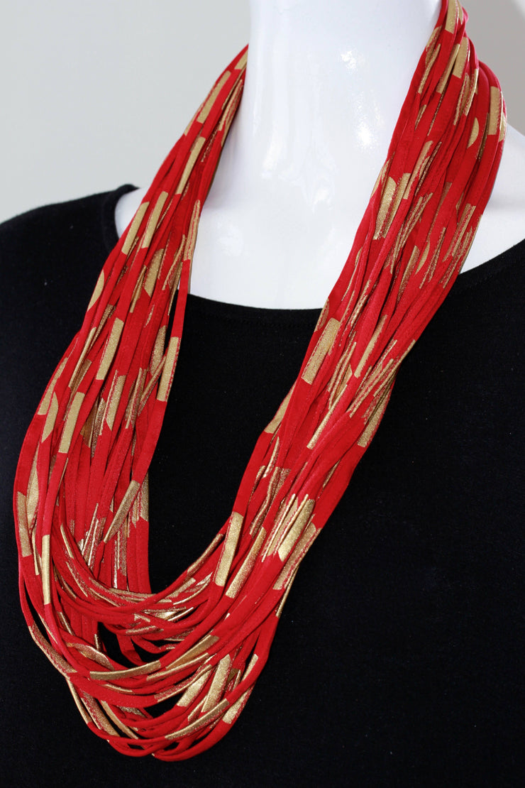 Necknots Red Decadence Multi-Strand Necklace - Essential Elements Chicago