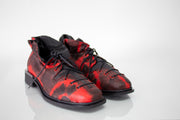 Papucei Aida Lace Up Shoes, Red and Black