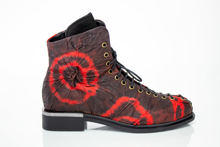 Papucei Aliz Lace Up Boot Red