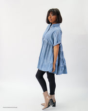 Denim Mini Shirt Dress