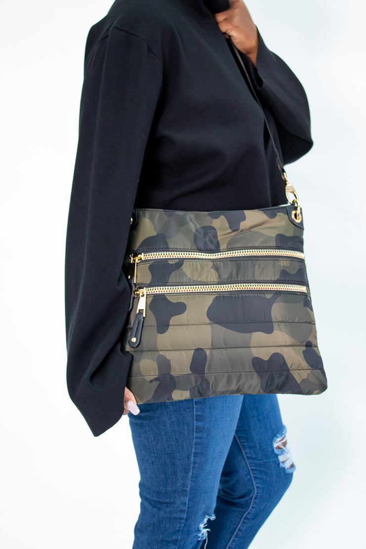 Sondra Roberts Quilted Camo Crossbody