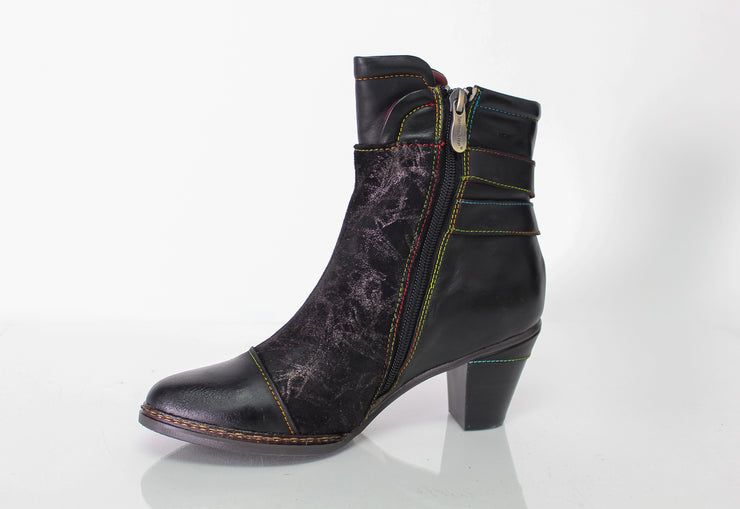Spring Step Locksto Black Ankle Boots