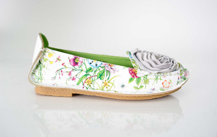 Spring Step White Floral Dezi Loafer