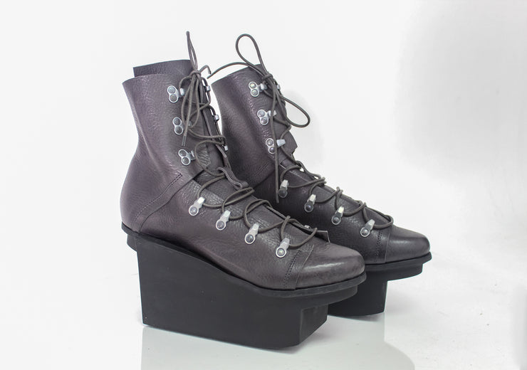Trippen Piz Shark Grey Lace-Up Boot