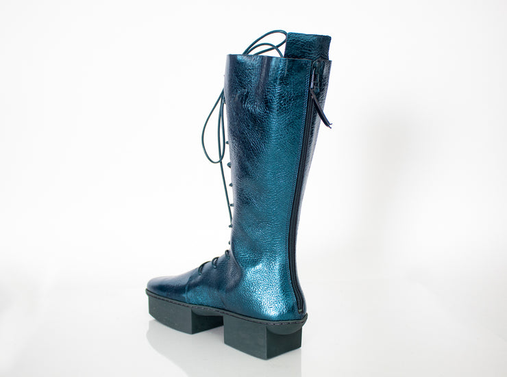 Women's Trippen Run Tall Boot, Metallic Teal