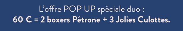 offre duo pop-up