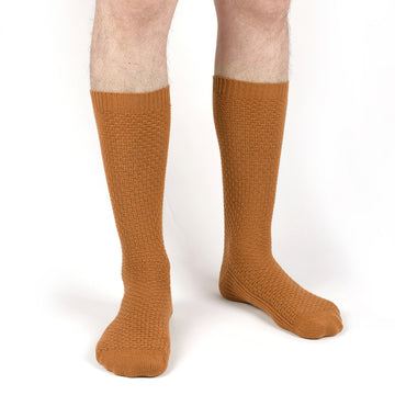chaussettes homme ocre