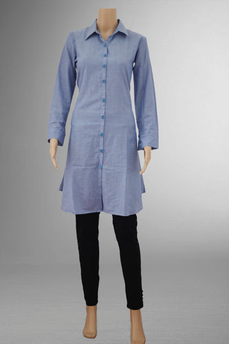 Sky Blue Shirt Kurthi