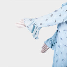 Load image into Gallery viewer, Light Blue Dobby Print Gown