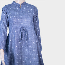 Load image into Gallery viewer, Blue Cotton Jeans Kurthi