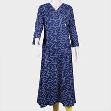 Load image into Gallery viewer, Arrow Print Blue Kurthi