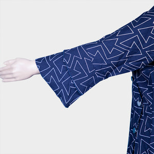 Arrow Print Blue Kurthi