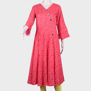 Arrow Print Red Kurthi