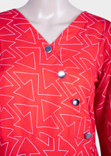 Load image into Gallery viewer, Arrow Print Red Kurthi