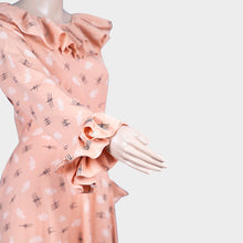 Load image into Gallery viewer, Light Orange Dobby Print Gown