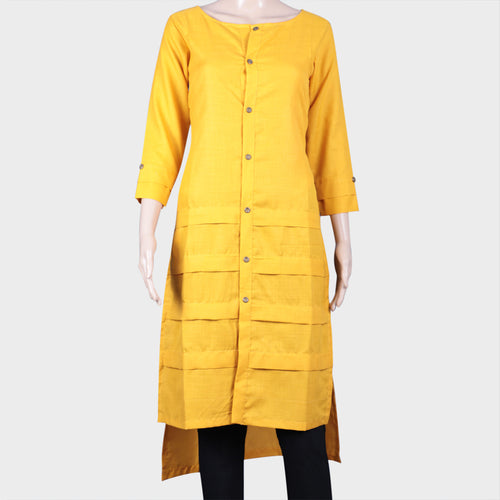 Plain Yellow Kurthi