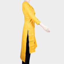 Load image into Gallery viewer, Plain Yellow Kurthi