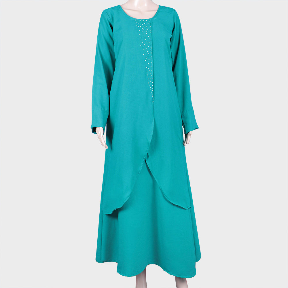 Double Flared Green Kurthi