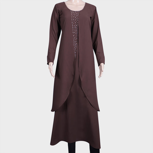 Double Flared Brown Kurthi