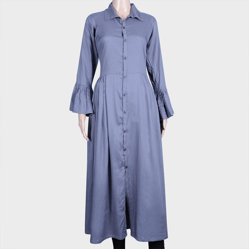 Ash Button Kurthi