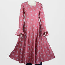Load image into Gallery viewer, Pink Pearl Round Neck Umbrella Kurthi
