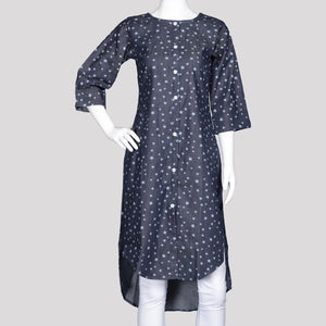 Printed Denim Kurthi