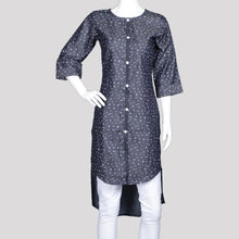 Load image into Gallery viewer, Denim High Low Kurthi