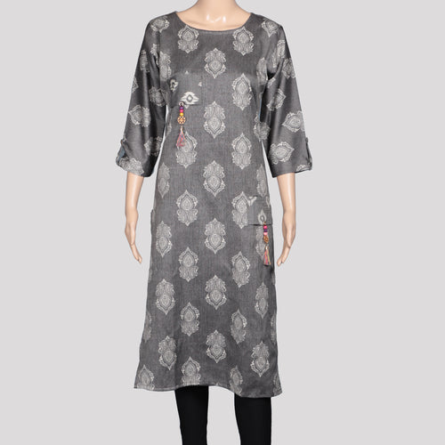 Ash Pocket Hanging Kurthi