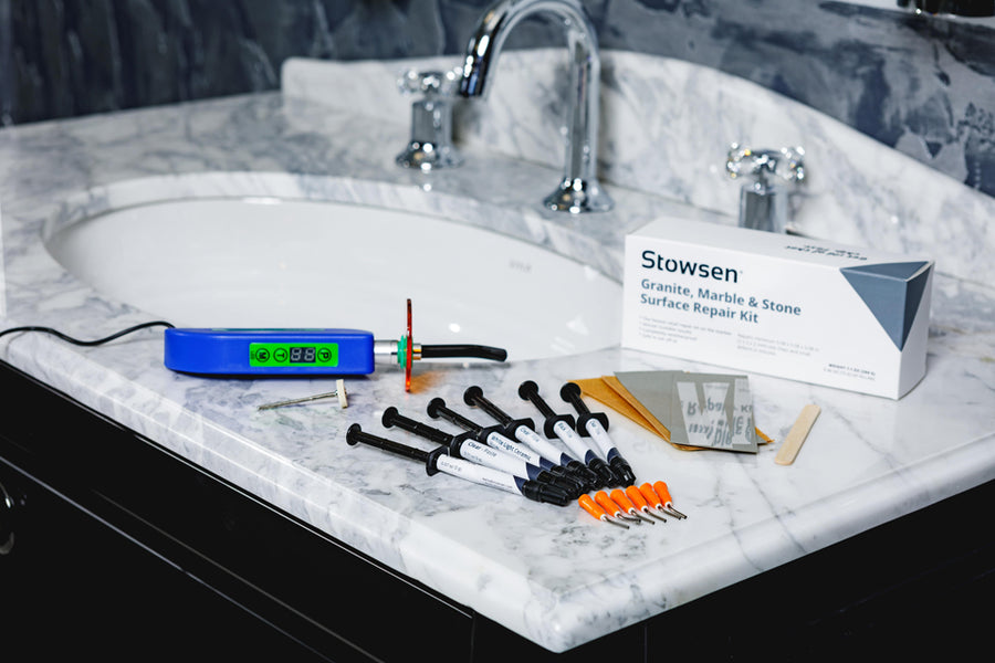 Stowsen granite marbel and stone surface repair kit includes