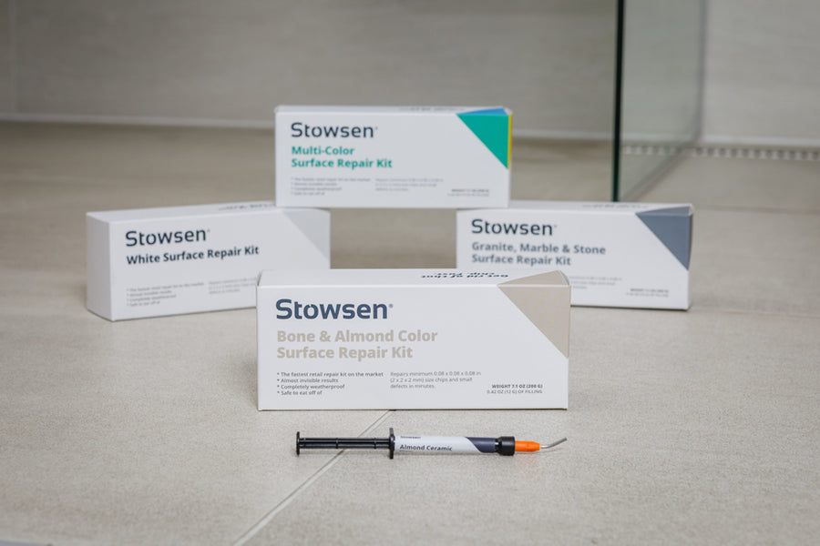 Stowsen Bone and Almond surface repair kit and  syringe