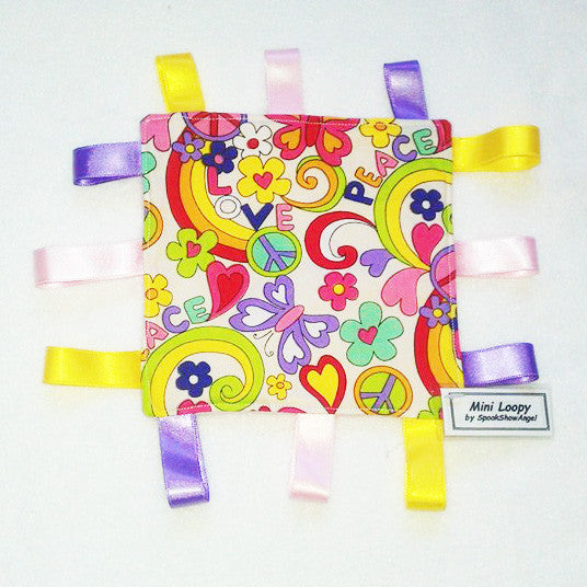 Handmade Baby Mini Loopy Comforter 'Hippy Chick'