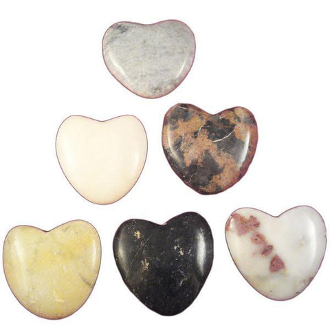 Agate Worry Hearts