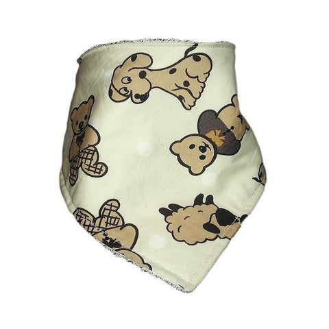 Handmade 'Dribana' Bandana Dribble Bib 'Animal Mix'