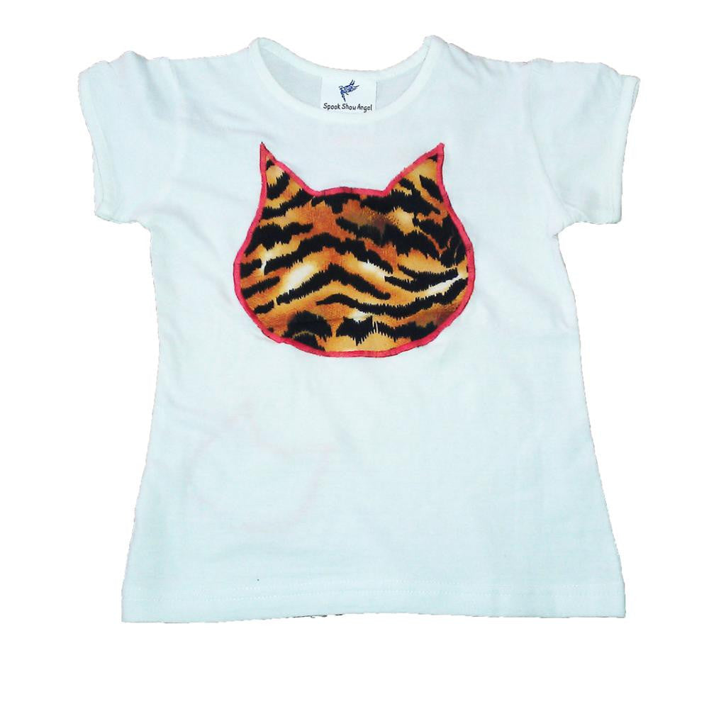 Hand-Crafted Girls' Big Cat T-Shirt 'Tiger'