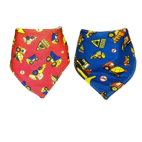 Handmade 'Dribana' Bandana Dribble Bib 'World of Diggers'